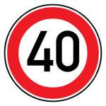 Verkehrsschild - Höchstgeschwindigkeit (40)