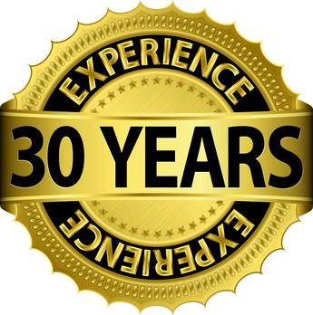 10th Wedding Anniversary Symbol 30 Jahre Erfahrung Golden
