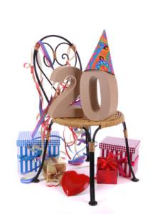 Herzlichen Glückwunsch zum 20. Geburtstag